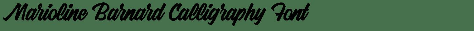 Marioline Barnard Calligraphy Font