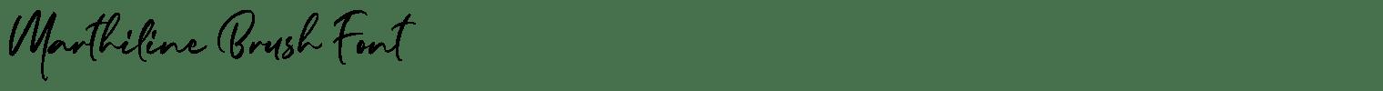 Marthiline Brush Font