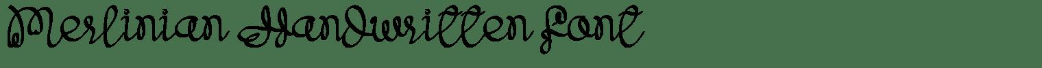 Merlinian Handwritten Font