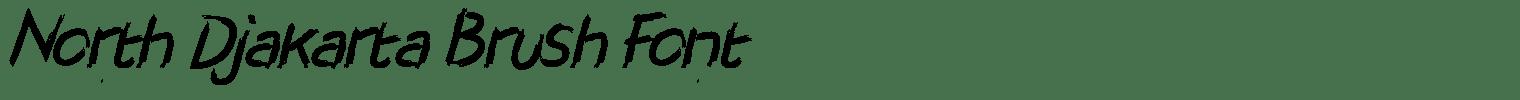 North Djakarta Brush Font