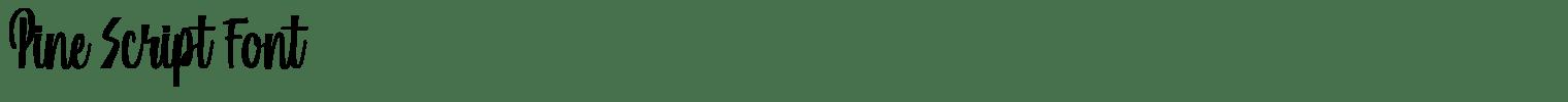 Pine Script Font