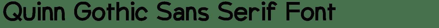 Quinn Gothic Sans Serif Font