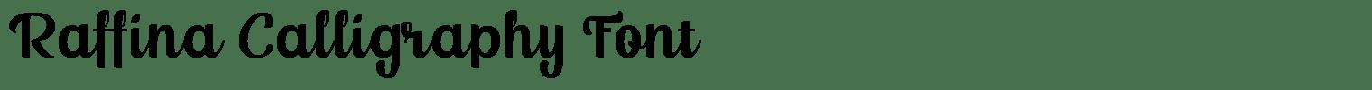 Raffina Calligraphy Font