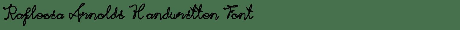 Raflesia Arnoldi Handwritten Font