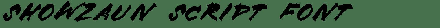 Showzaun Script Font