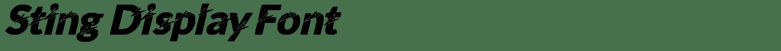 Sting Display Font