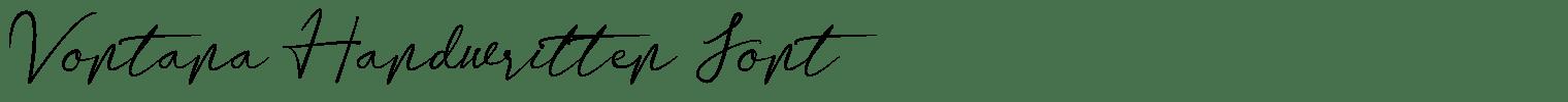 Vontana Handwritten Font