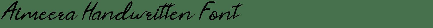 Almeera Handwritten Font