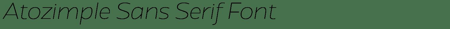 Atozimple Sans Serif Font