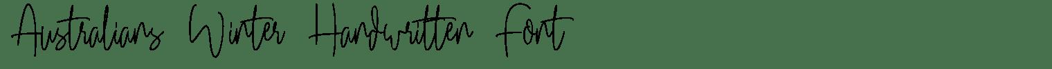 Australians Winter Handwritten Font
