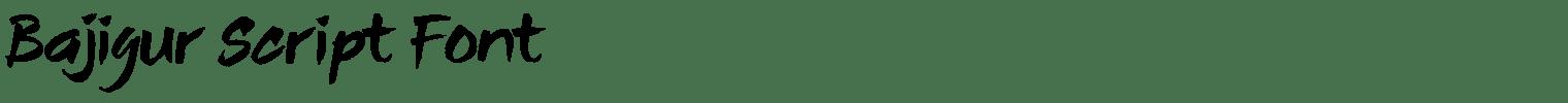 Bajigur Script Font