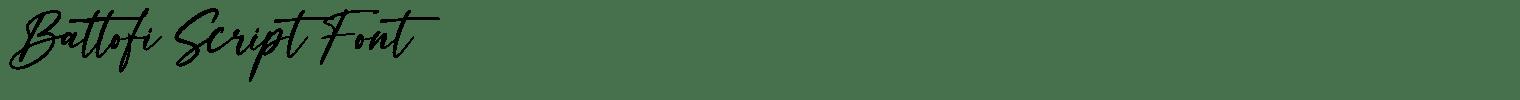 Battofi Script Font