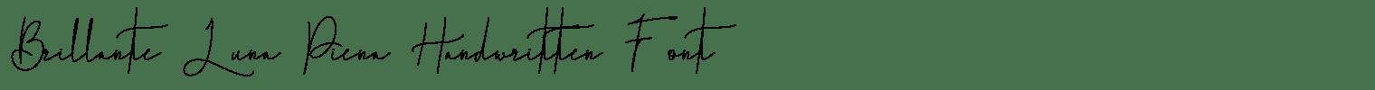 Brillante Luna Piena Handwritten Font
