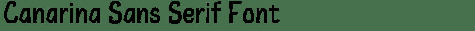 Canarina Sans Serif Font