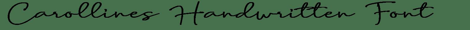 Carollines Handwritten Font