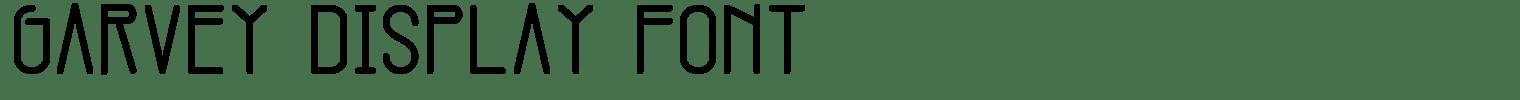 Garvey Display Font