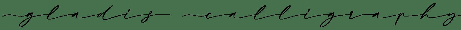 Gladis Calligraphy Font