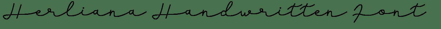 Herliana Handwritten Font