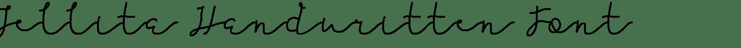 Jellita Handwritten Font