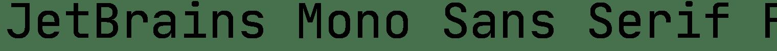 JetBrains Mono Sans Serif Font