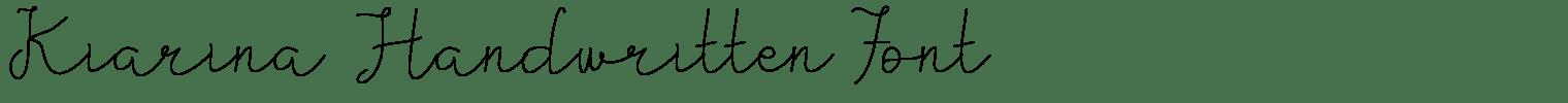Kiarina Handwritten Font