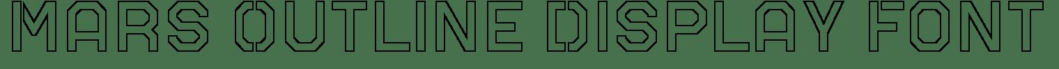 Mars Outline Display Font