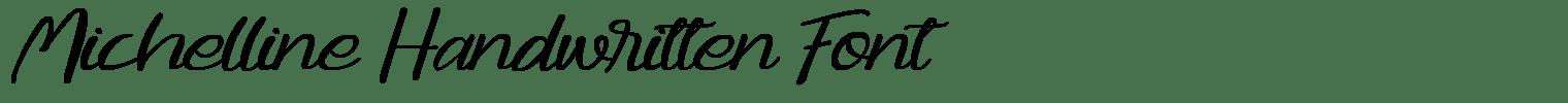 Michelline Handwritten Font