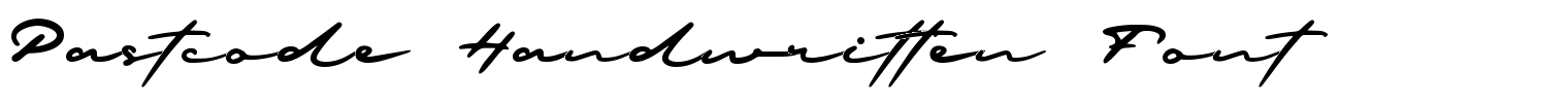 Pastcode Handwritten Font