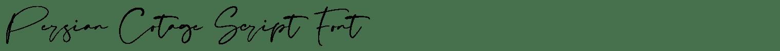 Persian Cotage Script Font