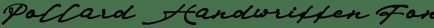 Pollard Handwritten Font