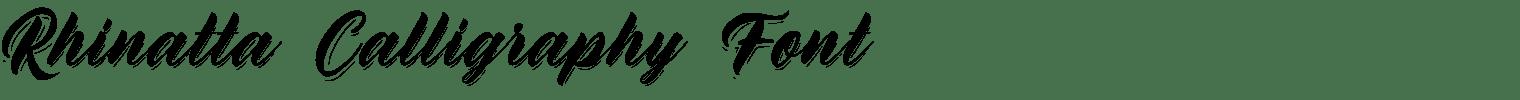 Rhinatta Calligraphy Font