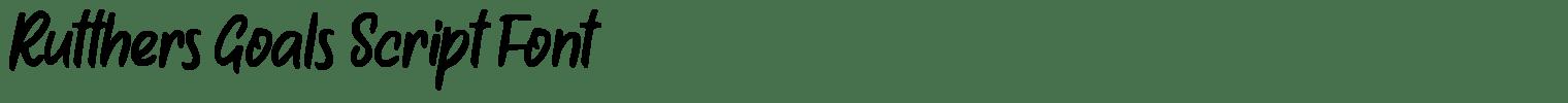 Rutthers Goals Script Font