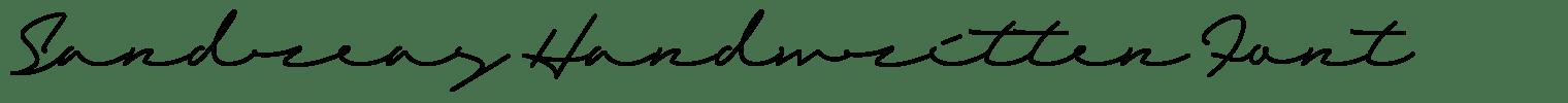 Sandreas Handwritten Font