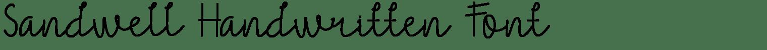 Sandwell Handwritten Font