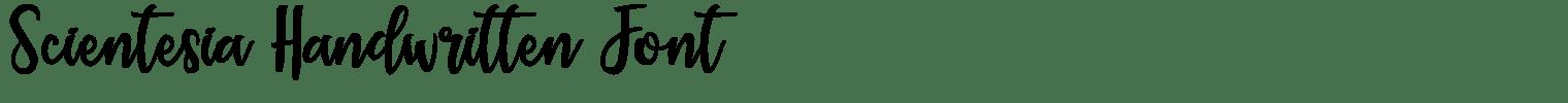 Scientesia Handwritten Font