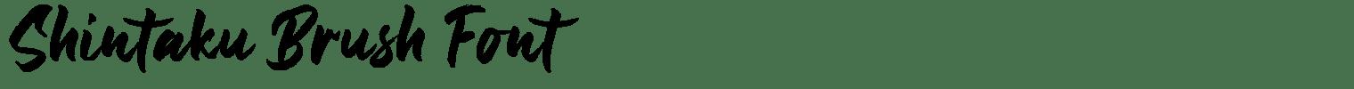 Shintaku Brush Font