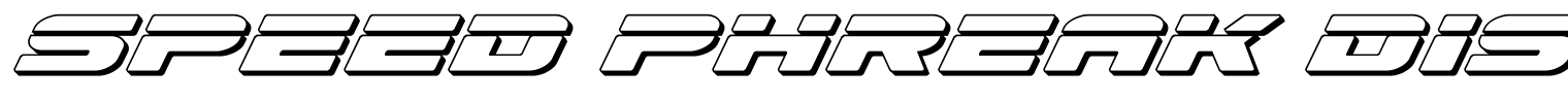 Speed Phreak Display Font