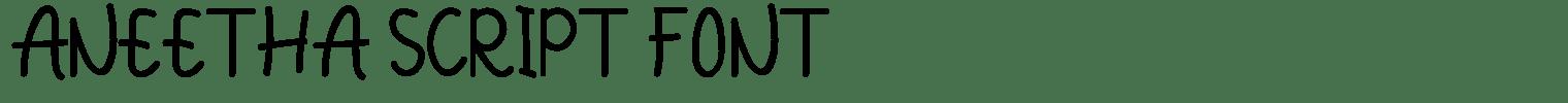Aneetha Script Font