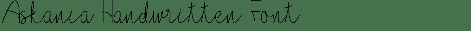 Askania Handwritten Font