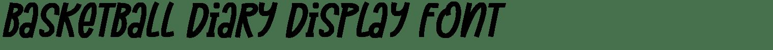 Basketball Diary Display Font