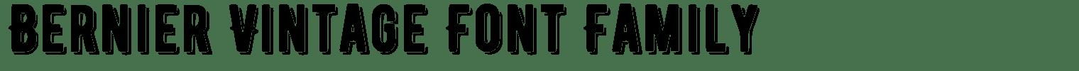 Bernier Vintage Font Family
