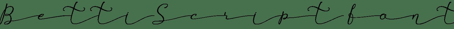 Betti Script Font