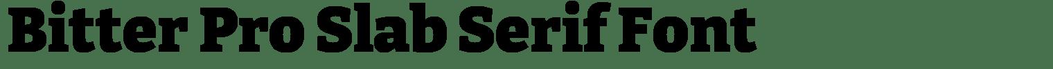 Bitter Pro Slab Serif Font