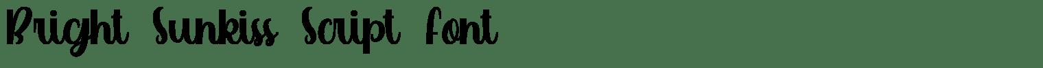 Bright Sunkiss Script Font