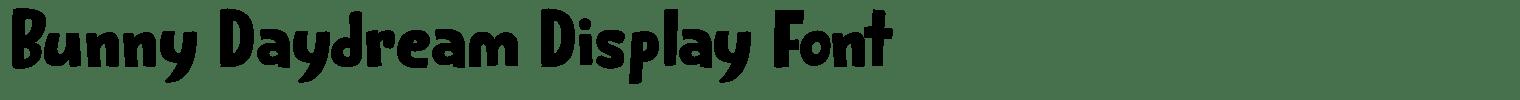 Bunny Daydream Display Font