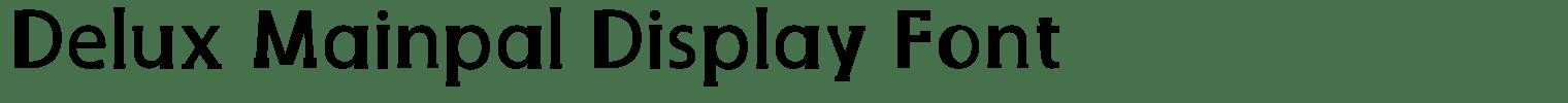 Delux Mainpal Display Font