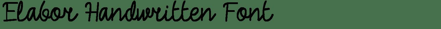 Elabor Handwritten Font