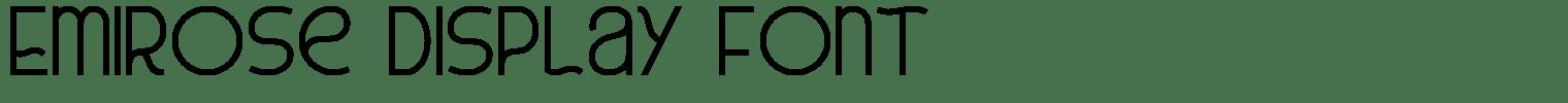 Emirose Display Font
