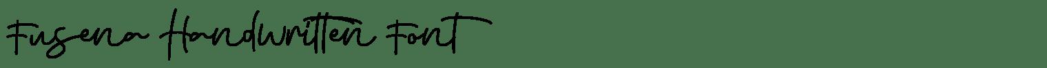 Fusena Handwritten Font