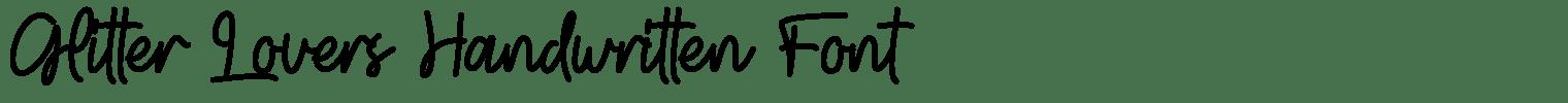 Glitter Lovers Handwritten Font